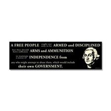 Washington Quote - A Free People Car Magnet 10 x 3