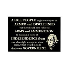 Washington Quote - A Free People Rectangle Magnet