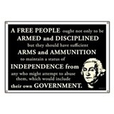 Washington Quote - A Free People Banner