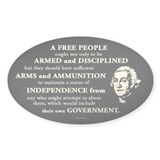 Washington Quote - A Free People Decal