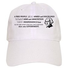 Washington Quote - A Free People Baseball Cap