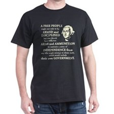 Washington Quote - A Free People T-Shirt