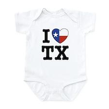 I Love TX (Texas) Infant Bodysuit