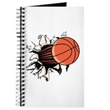 Basketball Ripping Through Journal