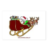 Santa/Sleigh Postcards (Package of 8)