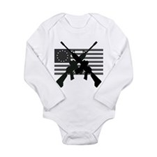 AR-15 and Revolutionary Flag Body Suit