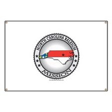 North Carolina Raleigh LDS Mission State Flag Bann