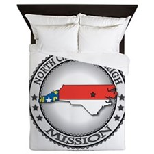 North Carolina Raleigh LDS Mission State Flag Quee