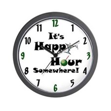 It's Happy Hour Somewhere! Wall Clock