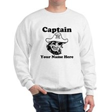 Custom Captain Pirate Sweatshirt