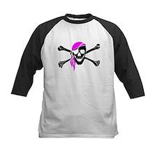 Skull And Bones Pink Bandana Baseball Jersey