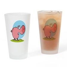 funny fat piggy pig looking scared cartoon Drinkin