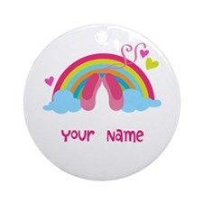 Personalized Ballet Dance Ornament (Round)