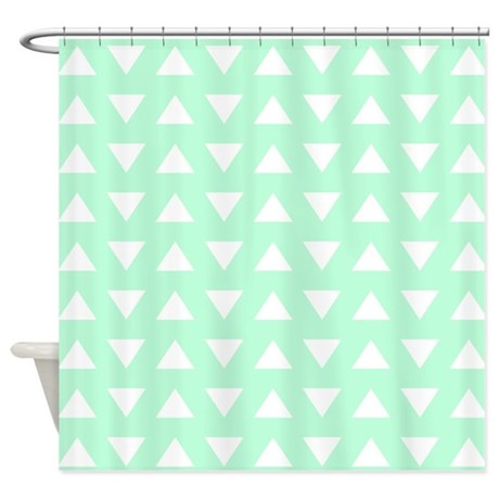 gifts geometric bathroom decor mint green pattern shower curtain