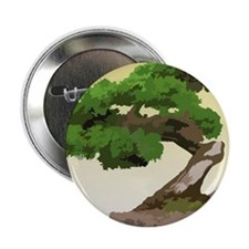 "Bonsai Zen tree 2.25"" Button"