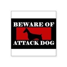 Beware of Attack Dog Doberman Pinscher Sticker