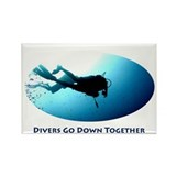 Divers Go Down Together Rectangle Magnet (100 pack