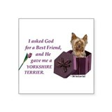 Yorkshire Terrier Yorkie Rectangle Sticker