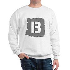 Initial Letter B. Sweatshirt