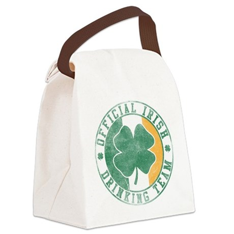 Official Irish Drinking Team Canvas Lunch Bag