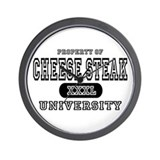 Cheese Steak University T-Shirts Wall Clock