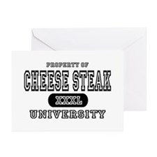 Cheese Steak University T-Shirts Greeting Cards (P