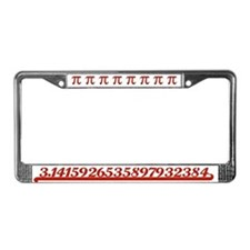 Team Pi Red License Plate Frame