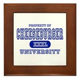 Cheeseburger University Framed Tile