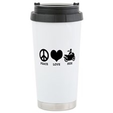 Female Motorcyclist Ceramic Travel Mug