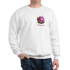 Suzanne: Purple Flower Sweatshirt