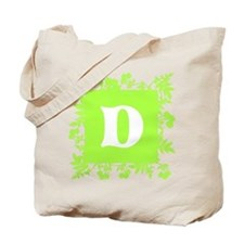 Plants and Letter D. Tote Bag