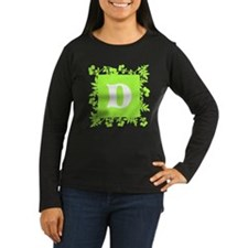 Plants and Letter D. Long Sleeve T-Shirt