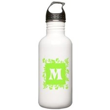 Plants and Letter M. Water Bottle