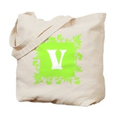Plants and Letter V. Tote Bag