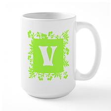 Plants and Letter V. Mug