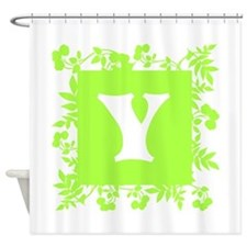 Plants and Letter Y. Shower Curtain