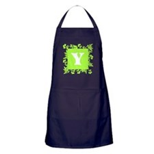 Plants and Letter Y. Apron (dark)