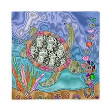 Sea Turtle Sea Horse Art Queen Duvet