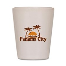 Panama City - Palm Tree Designs. Shot Glass