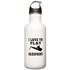 I Love Saxophone Water Bottle