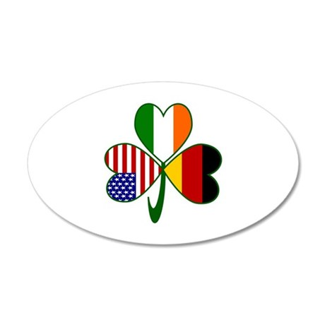Shamrock of Germany 20x12 Oval Wall Decal