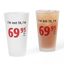 Funny Tax 70th Birthday Drinking Glass