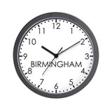 BIRMINGHAM Modern Newsroom Wall Clock