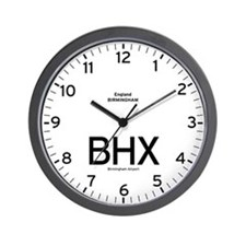 Birmingham,UK BHX Airport Newsroom Wall Clock