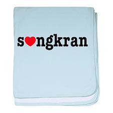 songkran heart a baby blanket