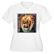 Lion Portrait Plus Size T-Shirt