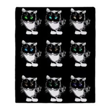 Bright Eyed Cats Throw Blanket