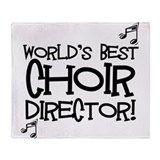 Worlds Best Choir Director Throw Blanket