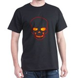Creepy Glowing Skull on a Black T-shirt