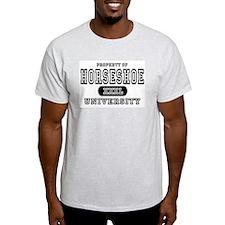 Horseshoe University Ash Grey T-Shirt
